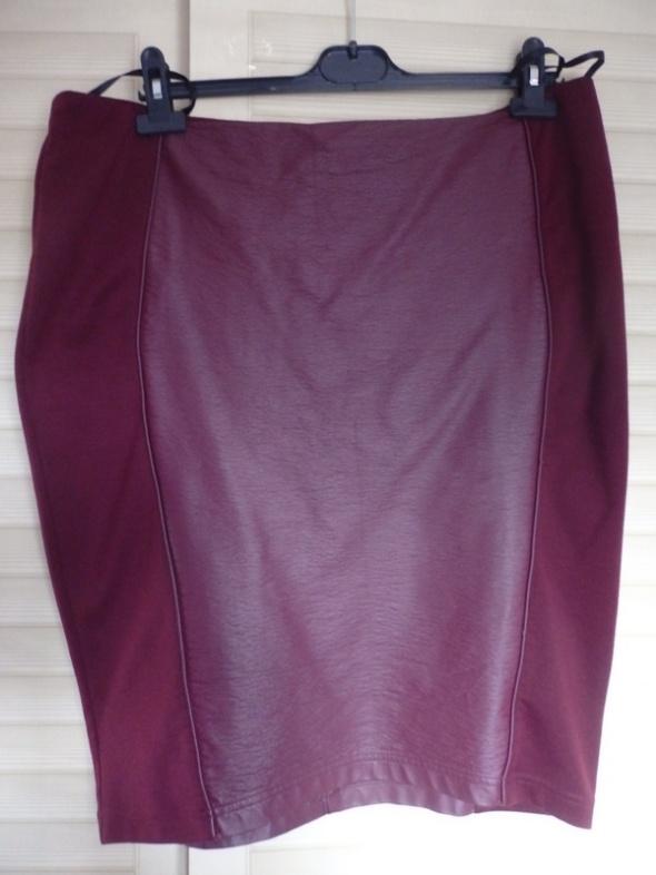 Spódnice spódnica ołówkowa skórkowa wstawka