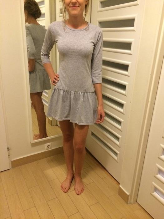 9300749811 Nowa sukienka szara bawełna dresowa 34 XS siwa w Suknie i sukienki ...