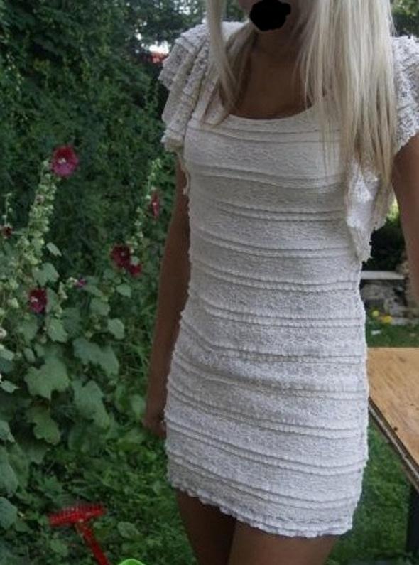 HM sukienka koronkowa Anna Mucha czarna 36S w Suknie i