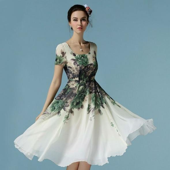 87ebbaae53 Szyfonowa suknia w kwiaty rozmiary w Suknie i sukienki - Szafa.pl