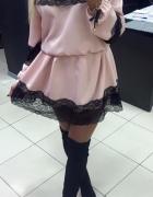 Sexy sukienka boho pudrowa