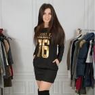 Sportowa sukienka sexy złote napisy