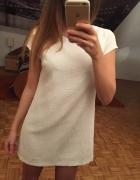 Trapezowa sukienka ecru