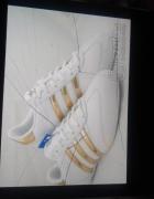 Adidasy biało zlote