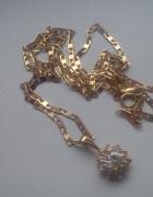Złoty łańcuszek z cyrkoniową zawieszką