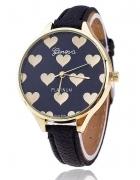 Zegarek serce czarny