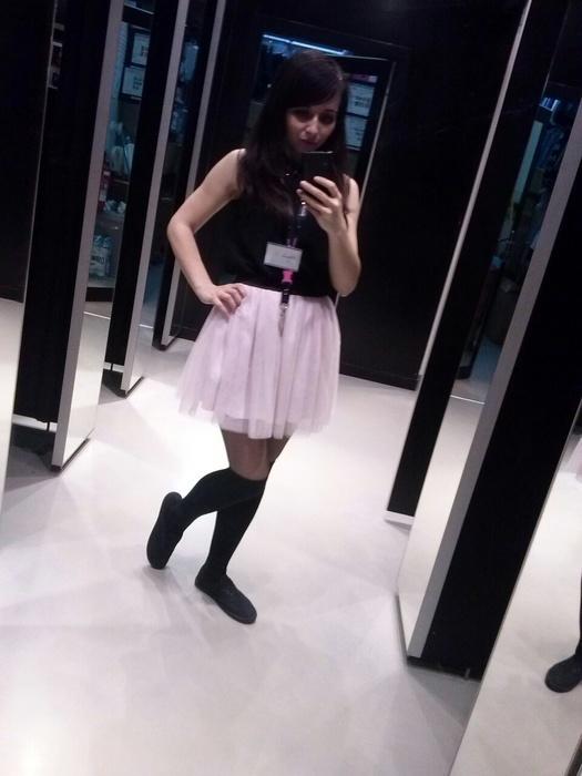 Spódnice tiulowa spodniczka pudrowy roz