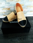 Espadrle Chanel od 34 do 41 3 kolory skóra nat