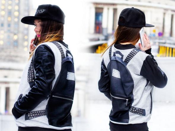 Blogerek Jacket on the road in Warsaw