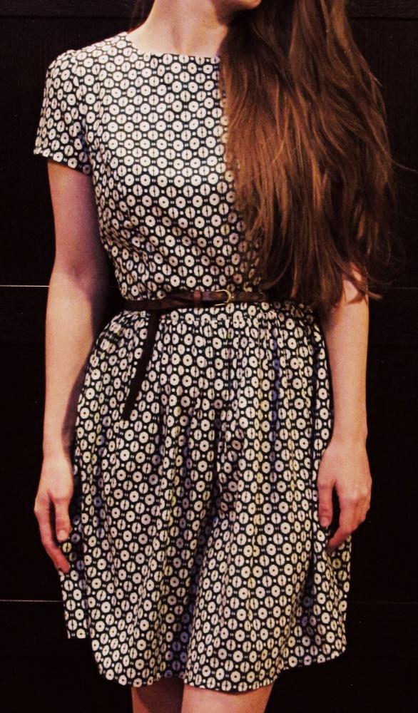 patternowa sukienka