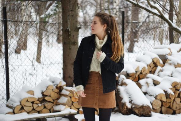 Blogerek spódnica i sweter