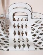 biała torebka ażurowa orsay...