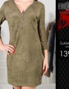 Mini sukienka Khaki