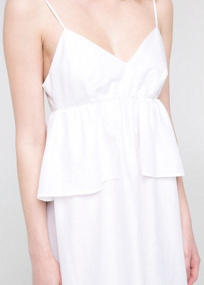 42d5b8548a Biała lniana sukienka Mango z zamikem w Suknie i sukienki - Szafa.pl