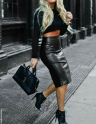 Sexy black leather
