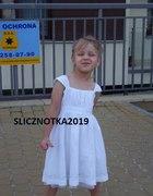 Biała sukienka Girl2Girl 3 4 latka 104cm