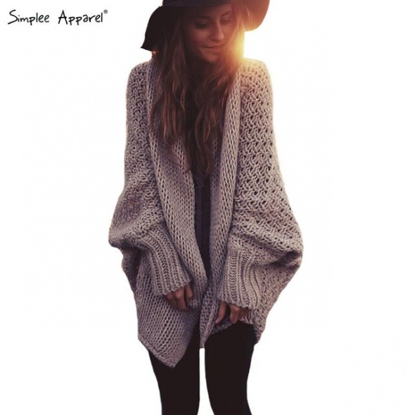 Włóczkowy sweter oversize