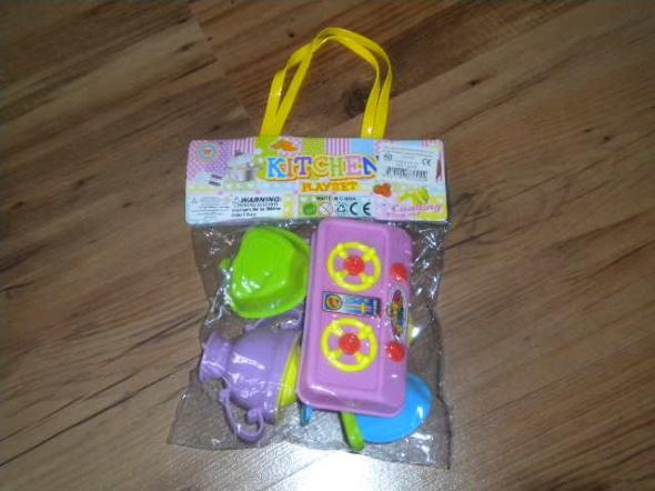 Zabawki nowa zabawka kuchnia garnek sztućce talerze