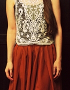 lace and brown