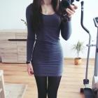 grafitowa sukienka