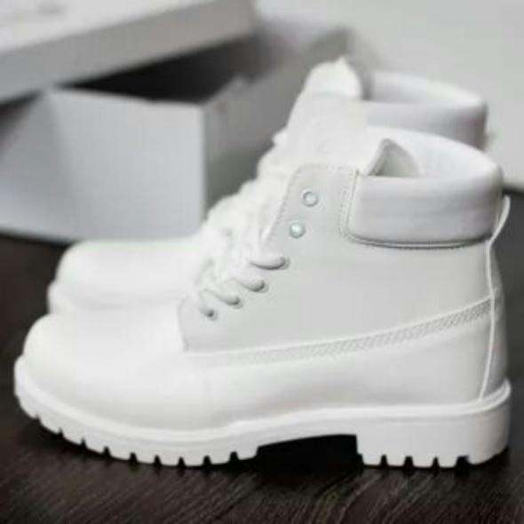 Białe trapery Deezee