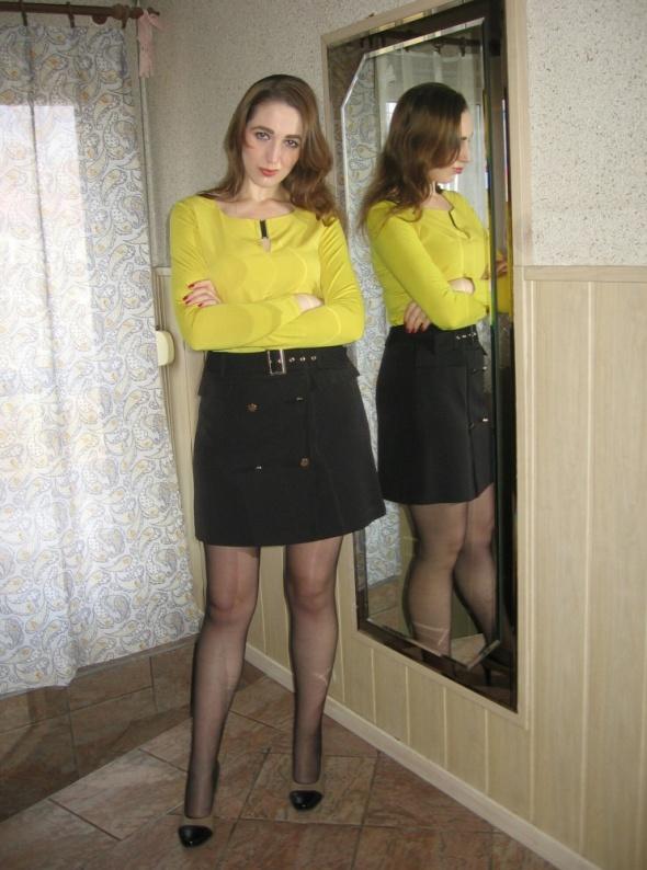 Eleganckie Żółta bluzka