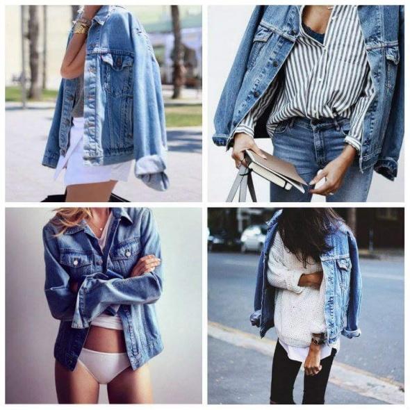 Codzienne jeansowa kurtka