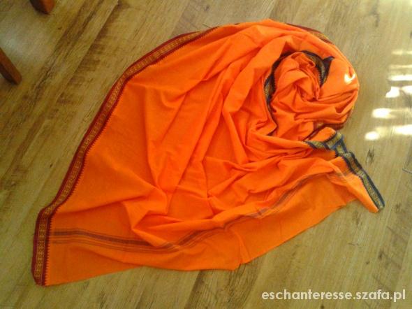 Chusty i apaszki Wielki pomarańczowy orientalny szal