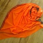 Wielki pomarańczowy orientalny szal