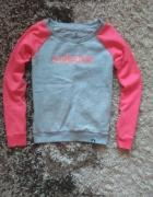 Bluza adidas różowo szara