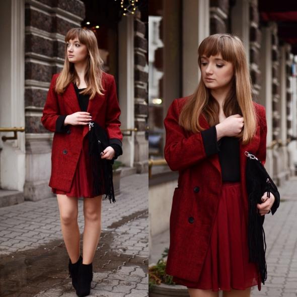 Blogerek Total look burgund