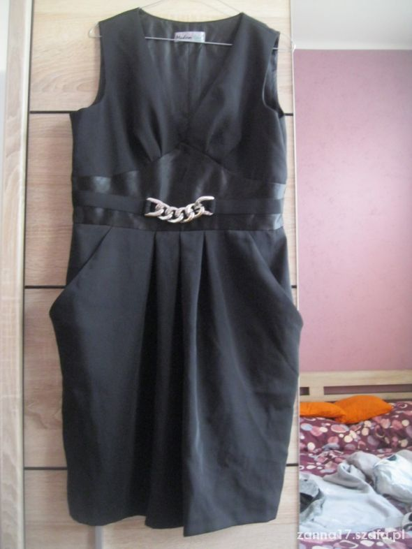 a10e52ff26 SUKIENKA MODERN LINE 42 czarna w Suknie i sukienki - Szafa.pl