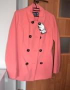Płaszcz płaszczyk jesienny House malinowy