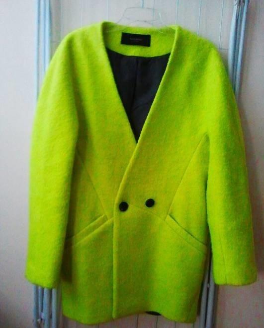 płaszcz limonka neon
