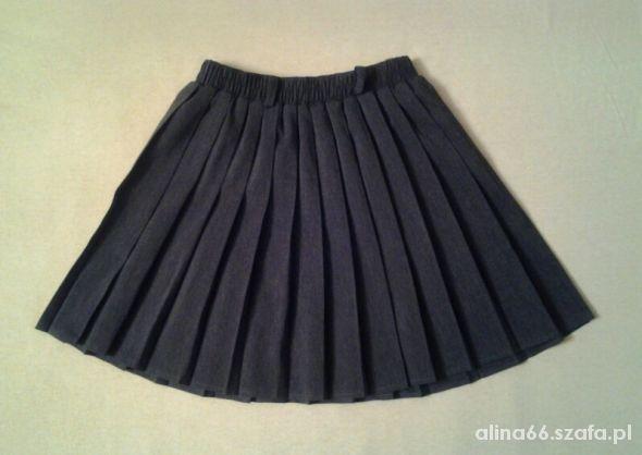 Spódnice Szara plisowana mini spódniczka