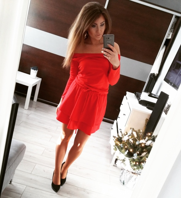 Codzienne red dress