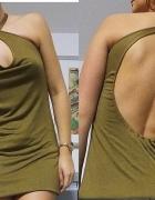 Przerobiona sukienka Odkryte plecy