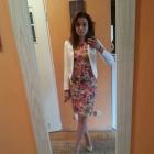 sukienka w kwiaty zara