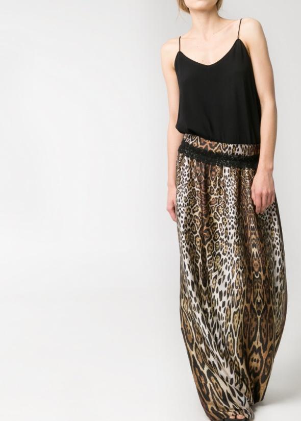 Spódnice Mango leopard maxi skirt