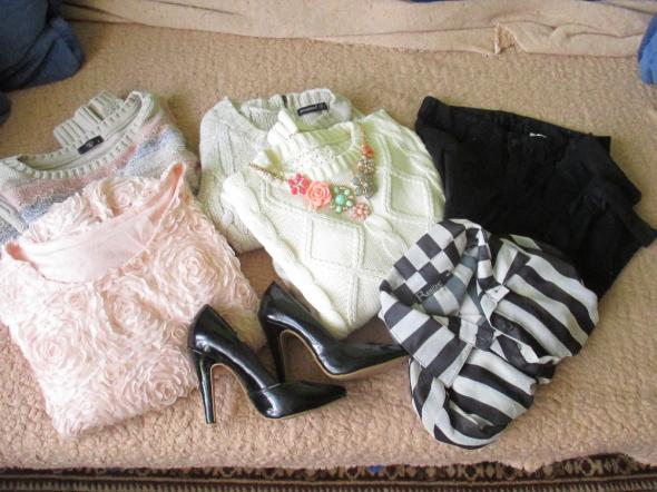 Codzienne Spodnie sweterki i szpilki