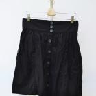 Spódnica Czarna XL 42 H&M Guziki Rozkloszowana