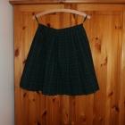 Spódnica plisowana typu college w szkocką kratę