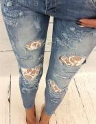 jeansy dziury sx