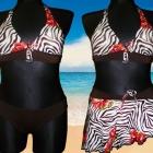 3 częściowy strój kąpielowy spódniczką M