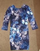 Sukienka mohito 36 w kwiaty obcisła jak NOWA
