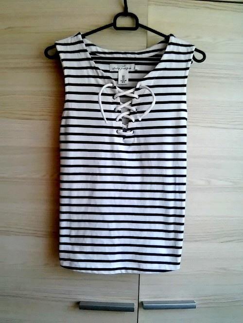 Ubrania top bluzka paski pasiak marynarski H&M xs
