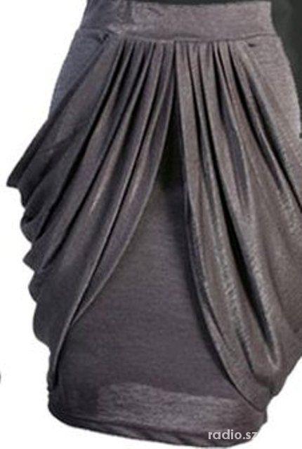 Spódnice Posrebrzana spódniczka spódniczka tulipan