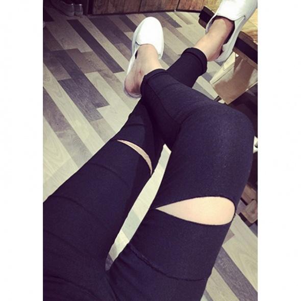 najmodniesze legginsy dziury kolana