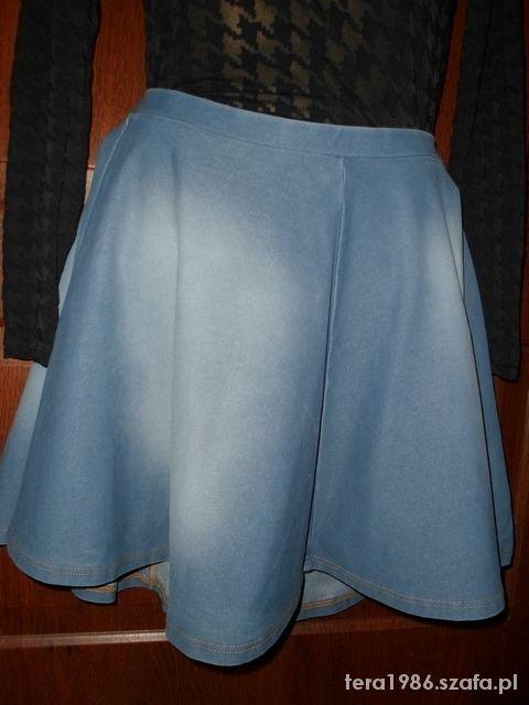 Spódnice Spódnica jeansowa rozkloszowana L TOPSHOP
