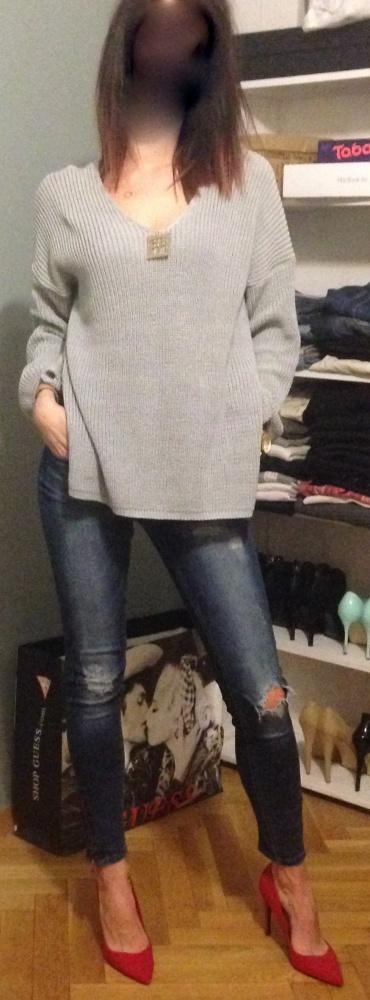 Codzienne sweter oversize hot szpilki